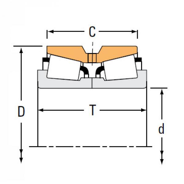 TNA Series Tapered Roller Bearings double-row NA44156 44363D #1 image