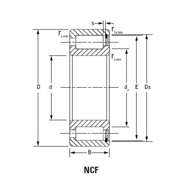 CYLINDRICAL ROLLER BEARINGS FULL COMPLEMENT NCF NCF2952V #5 image