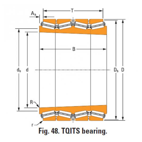 four-row tapered roller Bearings tQitS lm247730T lm247710d double cup #1 image