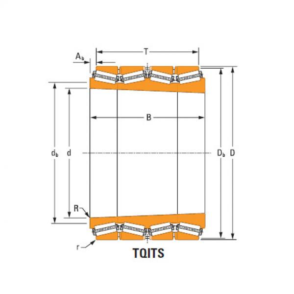 four-row tapered roller Bearings tQitS lm283630T lm283610 single cup #1 image