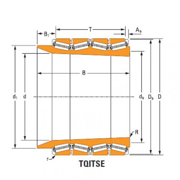 four-row tapered roller Bearings tQitS lm286733T lm286710 single cup #1 image