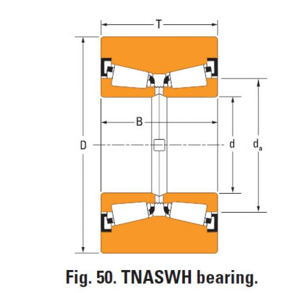 Tnaswh Two-row Tapered roller bearings na12581sw k38958 #1 image