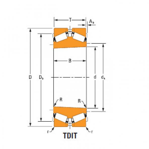 TdiT TnaT two-row tapered roller Bearings Hm259045Td Hm259010 #1 image
