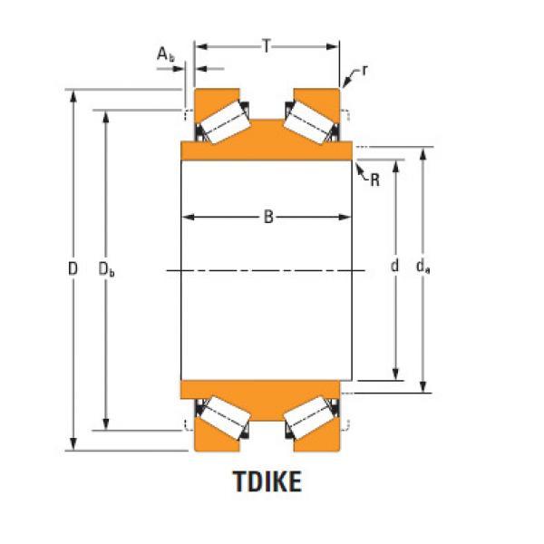 tdik thrust tapered roller bearings Hm252340dw Hm252315 #1 image