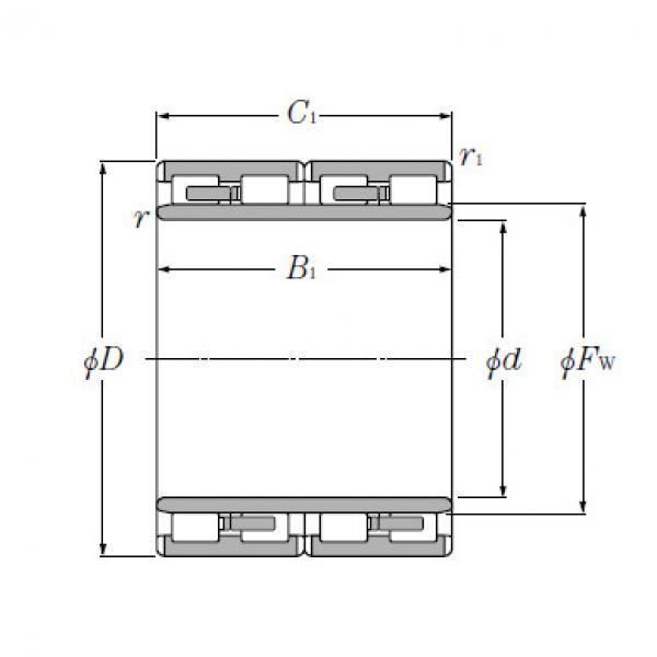 Four Row Cylindrical Roller Bearings NTN 4R4054 #4 image