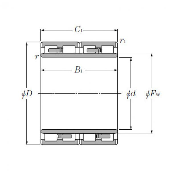 Four Row Cylindrical Roller Bearings NTN 4R6021 #5 image