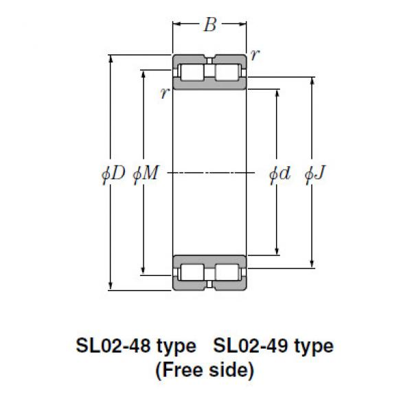 SL Type Cylindrical Roller Bearings NTN SL01-4852 #1 image
