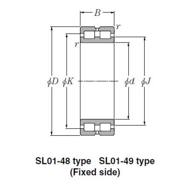 SL Type Cylindrical Roller Bearings NTN SL02-4836 #1 image