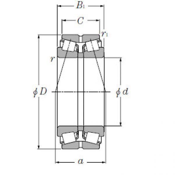 Double Row Tapered Roller Bearings NTN 323188 #1 image